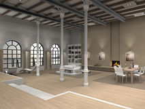 Loft interior Stock Image