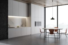 Loft kuchni betonowy k?t, kontuary i st??, ilustracji