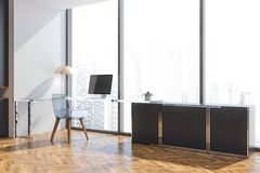 Loft manager office interior, side view Royalty Free Stock Photos