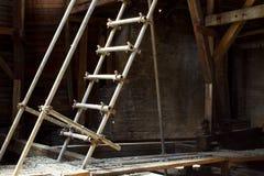Loft med stegen arkivbilder