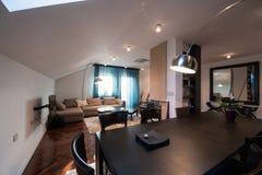 Loft mieszkania wnętrze, łomota teren Obrazy Royalty Free