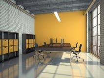 Loft office interior 3D rendering Royalty Free Stock Photo
