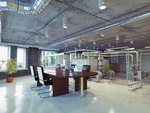 Loft office. Modern loft office interior. 3d design concept Stock Images
