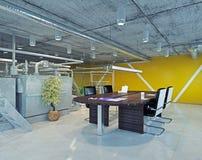 Loft office. Modern loft office interior. 3d design concept Stock Photography