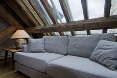 Loft room detai. Detail shot of a living room in loft apartment Stock Photo