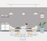 Loft room interior. Vector illustration. Royalty Free Stock Photography