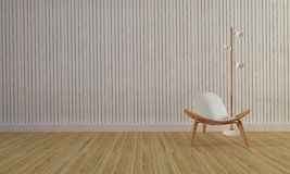 Loft and simple living room with chair and wall background-3d re Stock Images