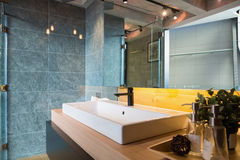 loft style bathroom Royalty Free Stock Photography