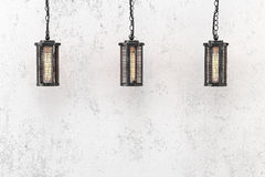 Loft style pendant lamps Royalty Free Stock Photography