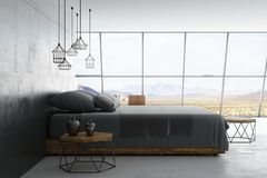 Loft style room royalty free illustration