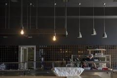 Loft stylowej wiszącej drucik lampowej żarówki dekoraci rocznika starego mod Zdjęcia Stock