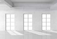 Loft with window Royalty Free Stock Image