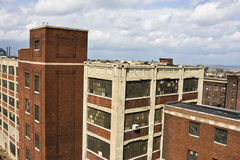 Lofts in Downtown Cleveland. Seen during cloudy day royalty free stock photography
