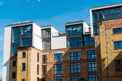 Lofts on top of an old building Royalty Free Stock Image