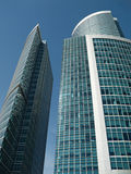 Lofty business buildings. Three lofty business center buildings Stock Photos