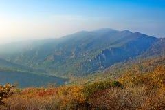 The lofty mountains of autumn Zu mountain Stock Photos