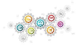 Logística ilustración del vector