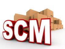 Logística de la gestión de la cadena de suministro Imágenes de archivo libres de regalías