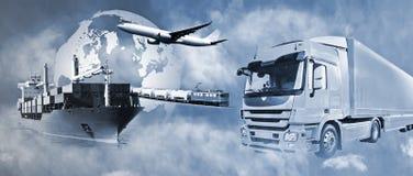 Logística del transporte Imagen de archivo libre de regalías