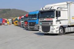 Logística dos caminhões fotos de stock