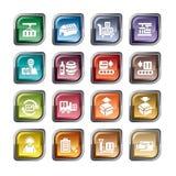 Logística e ícones do transporte Imagens de Stock Royalty Free
