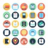 Logística global ícones coloridos 2 do vetor ilustração stock