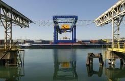 Logística portuária Fotografia de Stock