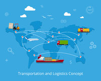 Logística y concepto del transporte Imagen de archivo