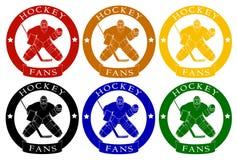 Logów hokejowi fan Zdjęcie Stock
