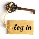 Log in Royalty Free Stock Images