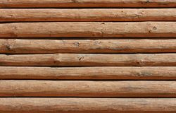 Log. Wall of the rural house Stock Photos