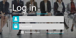Log In Accessibility Password Security System Concept. Log In Accessibility Password Security System Stock Photography