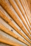 Log background. The side of a log building Stock Image