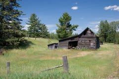 Log Barn. A log barn in Northern Wisconsin Stock Photography