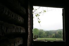 Log barn view Royalty Free Stock Photo