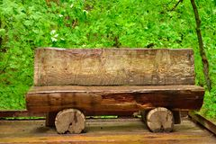 Log bench Stock Images