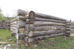 The log blockhouse outside Stock Photography