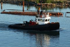 Log Boom Tug Boat Royalty Free Stock Photography