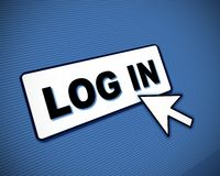 Log-in box and arrow Royalty Free Stock Photo
