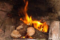 Log brûlant photos stock