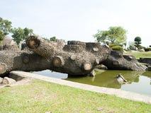 Log bridge Royalty Free Stock Image