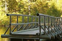 Log bridge Stock Images