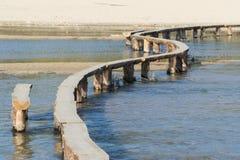 Log bridge on a stream Royalty Free Stock Photos
