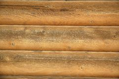 Log building background Stock Photography