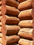 Log Building Detail Stock Photo
