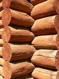 Log Building Detail. Log building in Banff township, Banff National Park, Alberta, Canada Stock Photo