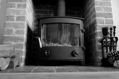 Log burner A Stock Photography