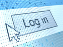 Log in button Stock Image