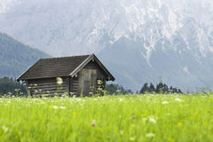 Log Cabin. In the Bavarian alps Royalty Free Stock Photography