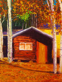 A log cabin Stock Photo